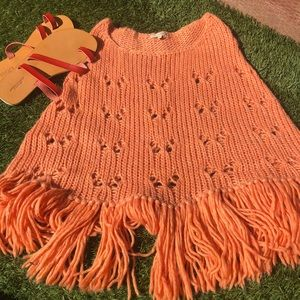 Laurie poncho in soft tangerine 🍊 ultra soft